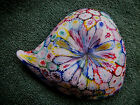Collect Vintage Venetian Murano Art Glass Leaf Dish Cane Work Millefiori Satin