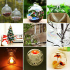 6 36x Hanging Tea Light Candle Holders Clear Glass Tealight Bauble Wedding Decor