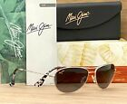 MAUI JIM GS245 17 BABY BEACH GRY SILVER POLARIZED NEW IN THE BOX FAST FREE SHIP