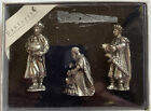 DANFORTH Three Wisemen Pewter Nativity Set Handcrafted Gift Boxed Signed