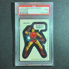 1975 Topps Marvel Super Heroes Stickers Iron Man PSA 9 Low Pop
