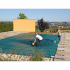 Pool Safety Green Cover Anti UV Inground for Winter Swimming Pool w 4X8 ft Step