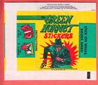 1966 TOPPS GREEN HORNET STICKERS 5c WRAPPER NM MT