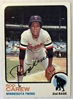 1973 TOPPS ROD CAREW CARD #330 AUTO AUTOGRAPH SIGNED HOF