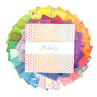 TULA PINK TRUE COLORS LAYER CAKE 42 10 INCH SQUARES RAINBOW BLENDER FABRIC