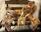 Ty Beanie Forest Animals Ringo/Nuts/Chipper/Sly/Whisper/Nibbly. Retired 1995-99
