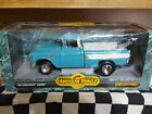 1 18 Scale Diecast ERTL Turquoise 1957 Chevy Cameo Pickup Truck Custom RestoMod