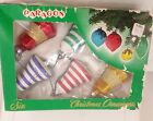 6 Vintage Paragon Bell Hand Blown Christmas Ornaments