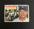 1956 Topps #135 Mickey Mantle Gray Back Yankees PR Centered