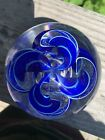 James Alloway Signed  Numbered Sparkly Ribbon Paperweight