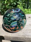 Vintage signed 72 Vitra Ocean Coral Reef Abstract Paperweight