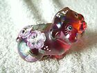 FENTON MARILYN WAGNER HAND PAINTED RED CARNIVAL PIG RARE