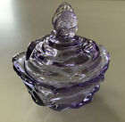 Fenton Art Glass Candy Dish Butterfly Finial Top Lid Lavender Color MINT