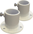 Deck Flanges For Anchoring Above Ground Pool Ladder Pair Rugged Cast Aluminum