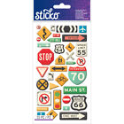 Sticko Stickers Road Signs Pk 6 Sticko