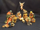KIRKLAND SIGNATURE 12pc PORCELAIN NATIVITY SET MISSING WOOD CRECHE EXCEL