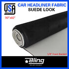 Suede Headliner Fabric Black 100x60 Upholstery Replace Car Roof Liner Sagging