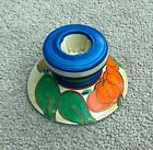 CLARICE CLIFF LILY PATTERN SQUAT CANDLESTICK SHAPE 331  ART DECO