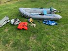 Inflatable Boat 10 AVON 35 Tender 5 person w Cruise N Carry Outboard Motor