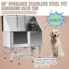 Professional 50 Pet Dog Cat Wash Shower Grooming Bath Tub 304 Stainless Steel