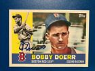 2017 Topps Archives Bobby Doerr #73 Auto Autograph 1960 Red Sox Card Design