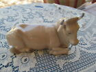 vtg NAO LLADRO NATIVITY PORCELAIN FIGURINE COW LAYING DOWN Spain 1981