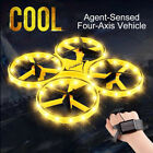 2021 New Mini Quadcopter Drone Smart Watch Remote Sensing Hand Control Hold Kids