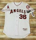 Authentic LOS ANGELES ANGELS Jersey 2012 JERED WEAVER Home White MLB 44 * STAINS