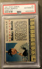 1961 Post Cereal Mickey Mantle Baseball Card #4 Yankees HOF Graded PSA Authentic