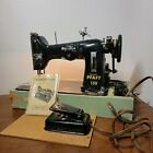 Pfaff 130 Vintage Sewing Machine With Original Case and Instruction Book