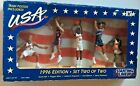 1996 Olympic Basketball Strt Lineup Set 2 Karl Malone Grant Hill Action Figures