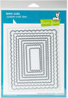 Lawn Cuts Custom Craft Die Scalloped Rectangle Stackables Part LF997 by Lawn F