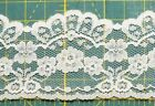 Vintage Ivory Lace Wedding Floral Trim Edging 2 1 2 inches GIANT ROLL