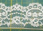 Vintage White Lace Wedding Floral Trim Edging 2 1 2 inches GIANT ROLL
