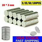 52550x Disc Neodymium Magnets Adhesive Backing Rare-earth 20 3mm Magnet Lot
