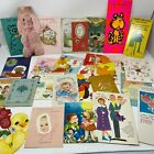Lot of 26 Vintage Used Greeting Cards 50s 60s Kids Birthday Birth Get Well