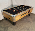 7 VALLEY COMMERCIAL COIN OP POOL TABLE MODEL ZD 6 NEW BLACK CLOTH