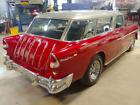 1955 Chevrolet Nomad Bel Air NO RESERVE Factory Sunvisor GORGEOUS Metallic Red and Silver