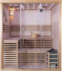 New Wet Dry Traditional 3 Bench Swedish Steam SPA Sauna 6 Person 8KW Heater 220V