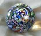 ANTIQUE SCRAMBLED PAPERWEIGHT BOUGHT IN FRANCE  POLISHED CONCAVE PONTIL