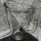 Anchor Hocking Savannah Clear Glass 96 oz Water Pitcher Embossed Rose Flower