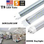 T8 4FT LED Tube 18W 24W 36W G13 Bi Pin 4 6000K LED Shop Light Bulbs Clear Cover