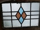 Large Antique Victorian Stained Leaded Glass Pub Window With Hanging Hooks 2