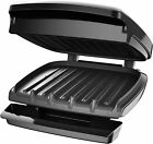 George Foreman Electric Indoor Grill And Panini Press 4 Serving Classic Plate