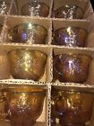 12 Vintage Indiana Glass Marigold Carnival Harvest Grape Punch Iridescent Cups
