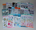 Huge Lot of Clear Stamps  Stencils Recollections Fiskars Hampton Art  More