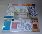 Lot of Dies  Embossing Folders Sizzix Tim Holtz Cuttlebug Recollections