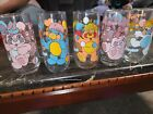 VINTAGE PIZZA HUT PUFFBALL PUZZLE PARTY POPPLES 5 SET DRINKING GLASSES NICE