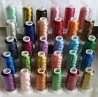 30 Metallic Embroidery Threads Spools 30 difColors 1000 Mtrs 1100 Yards Each