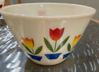 fire king oven ware tulip bowl 8 1 2